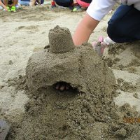 お砂で遊んだよ。